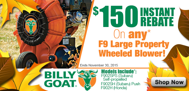 Billy Goat F9 Rebate Equipment