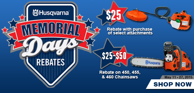 Husqvarna Memorial Day Rebates