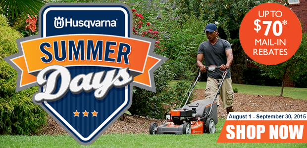 Husqvarna Summer Days Rebates