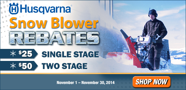 Husqvarna Snow Blower Rebates