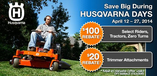Husqvarna Days Rebates
