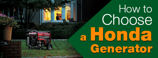 How to Choose a Honda Generator