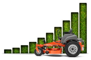 Zero Turn efficiency, more grass cut in less time with less fuel.