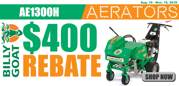 Billy Goat AE1300H Rebate