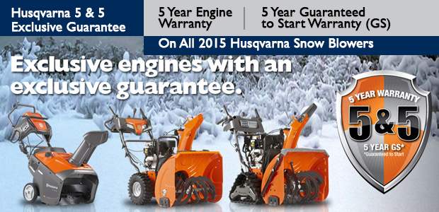 Husqvarna 5 and 5 Warranty