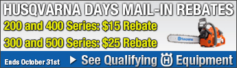 Husqvarna Days October Rebates Qualifying Equipment