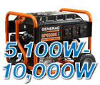 5100 to 10000 Watt Generators